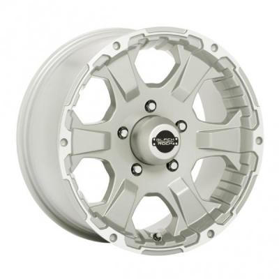 BLACK ROCK WHEELS  910S INTRUDER SILVER RIM with MACHINED ACCENTS