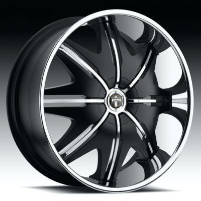DUB WHEELS  DOGGY STYLE S143 BLACK/STAINLESS WHEEL