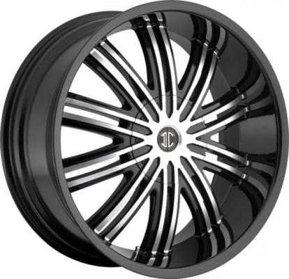 2 CRAVE WHEELS  2 CRAVE N07 BLACK/MACHINED RIM