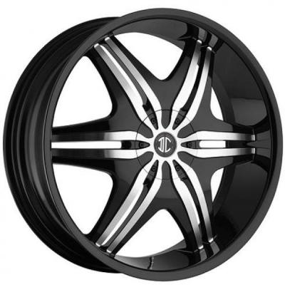 2 CRAVE WHEELS  2 CRAVE N06 BLACK/MACHINED RIM