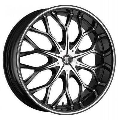 2 CRAVE WHEELS  BLACK DIAMOND N09 BLACK/MACHINED RIM