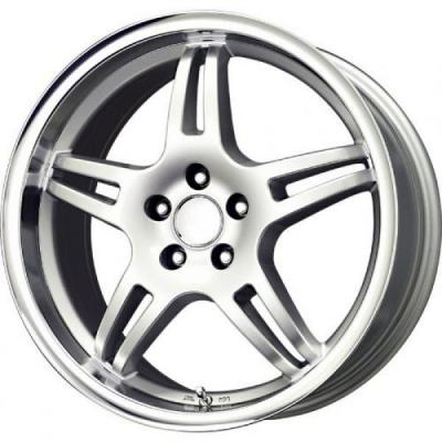 VOXX WHEELS  MG3 SILVER RIM with MIRROR MACHINED LIP