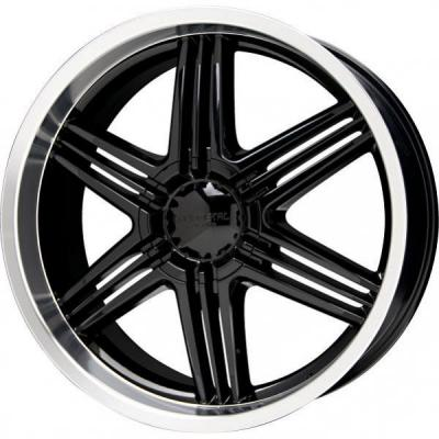 LIQUID METAL WHEELS  BLADE BLACK RIM with MACHINED LIP