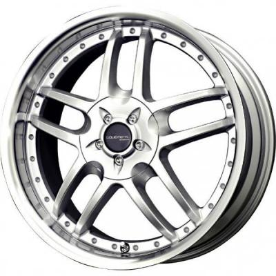 LIQUID METAL WHEELS  CORE SILVER RIM with MACHINED LIP