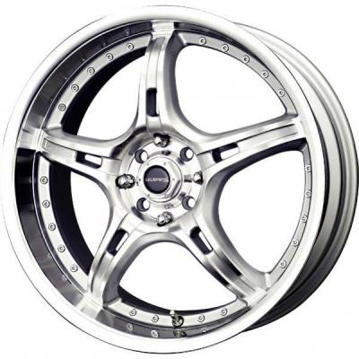 LIQUID METAL WHEELS  MERKUR SILVER RIM with MACHINED LIP