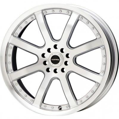 LIQUID METAL WHEELS  STINGER SILVER RIM with MACHINED FACE