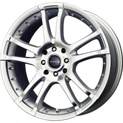 LIQUID METAL WHEELS  VENOM SILVER RIM with MACHINED FACE