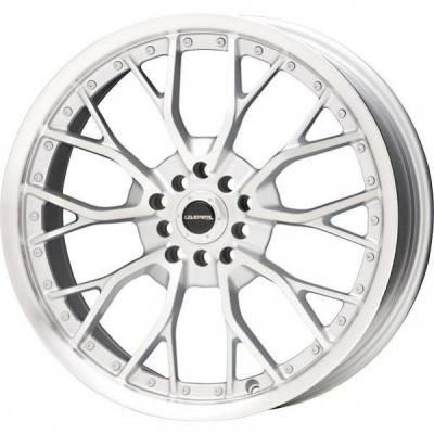 LIQUID METAL WHEELS  WIRE SILVER RIM with MACHINED FACE