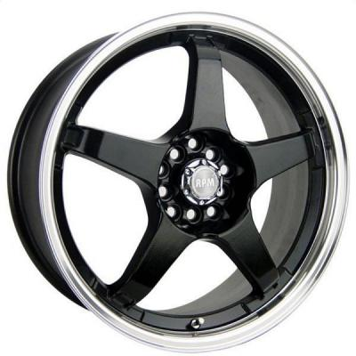 SPEEDY WHEELS  LITE 5 BLACK RIM with MACHINED LIP