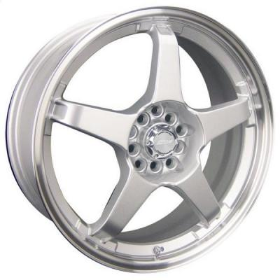 SPEEDY WHEELS  LITE 5 SILVER RIM with MACHINED LIP
