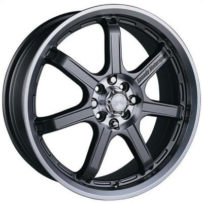 SPEEDY WHEELS  LITE 7 GUNMETAL RIM with MACHINED LIP
