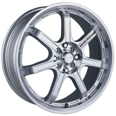 SPEEDY WHEELS  LITE 7 SILVER RIM with MACHINED LIP