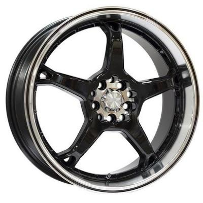SPEEDY WHEELS  RAZOR BLACK RIM with MACHINED LIP