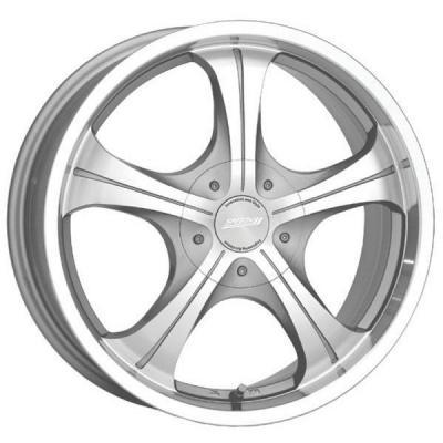 SPEEDY WHEELS  SIRROCO SILVER RIM with MACHINED LIP