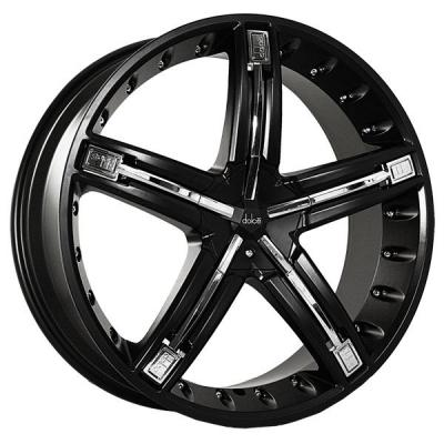 DOLCE WHEELS  DC30 BLACK RIM with CHROME INSERTS