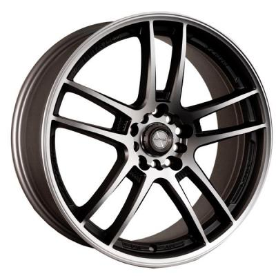 NINJA WHEELS  NJ02 DARK GRAY RIM with MACHINED FACE