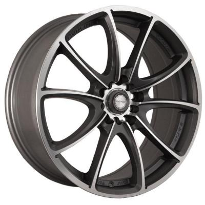 NINJA WHEELS  NJ03 DARK GRAY RIM with MACHINED FACE