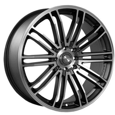 NINJA WHEELS  NJ08 DARK GRAY RIM with MACHINED FACE