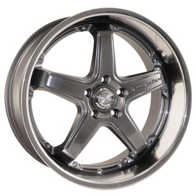 KATANA WHEELS  CR5 GUNMETAL RIM with MACHINED LIP
