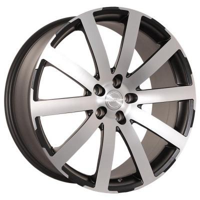 KATANA WHEELS  KP1 BLACK RIM with MACHINED FACE