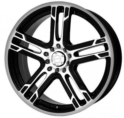 KATANA WHEELS  KR10 MATTE BLACK RIM with MACHINED FACE