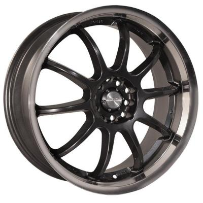 KATANA WHEELS  KS-D GUNMETAL RIM with MACHINED LIP