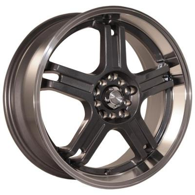 KATANA WHEELS  RZ5 GUNMETAL RIM with MACHINED LIP