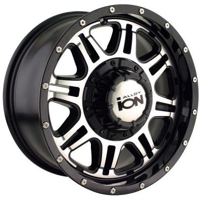 ION ALLOY WHEELS  TYPE 186 BLACK RIM with MACHINED FACE