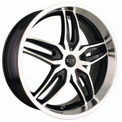 DIP WHEELS  BIONIC D63 BLACK RIM with MACHINED FACE and LIP