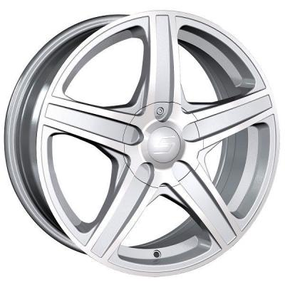 SACCHI WHEELS  S48 HYPER SILVER RIM with MACHINED FACE