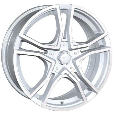 AKITA RACING WHEELS  AK85 HYPER SILVER RIM with MACHINED FACE