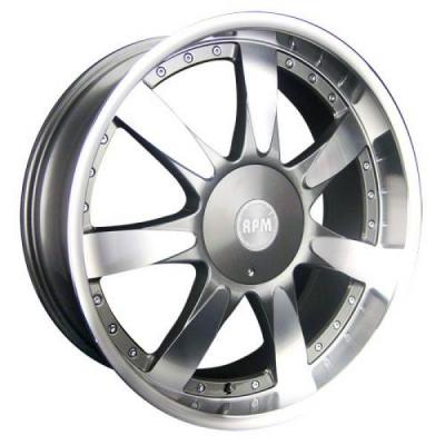 RPM WHEELS  M-514 GUNMETAL RIM with MACHINED LIP