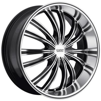 CRUISER ALLOY WHEELS  912MB SHADOW GLOSS BLACK RIM with MIRROR MACHINED FACE and LIP