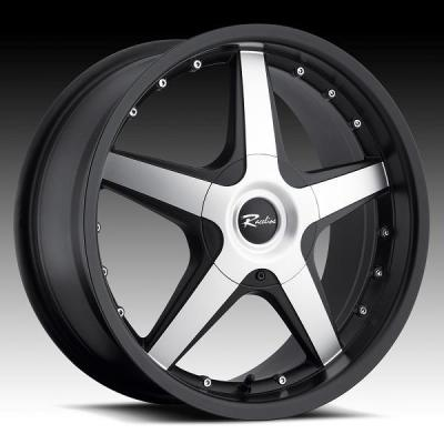 RACELINE WHEELS  191M CAYMAN BLACK RIM with MACHINED FACE