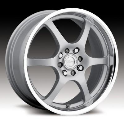 RACELINE WHEELS   126 SILVER RIM with MIRROR LIP