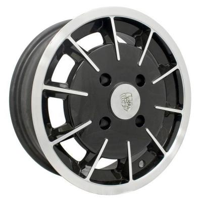 EMPI VINTAGE VW  GASSER GLOSS BLACK RIM with POLISHED LIP and SPOKE EDGES