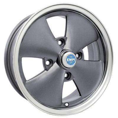 EMPI VINTAGE VW  4 SPOKE ANTHRACITE RIM with POLISHED LIP