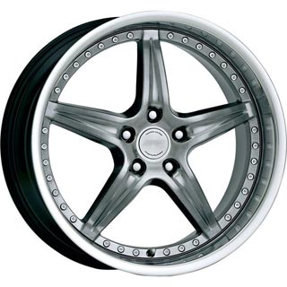 SPEEDY WHEELS  ENVY HYPER DARK SILVER RIM