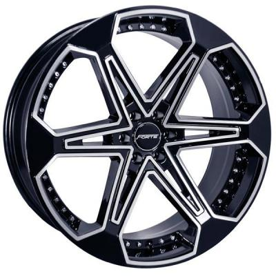 FORTE WHEELS  F63 JONES SIX BLACK RIM with MIRROR FACE