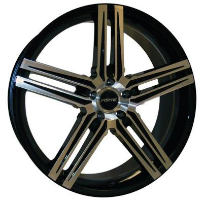 FORTE WHEELS  F57 PHANTOM BLACK RIM with MIRROR FACE
