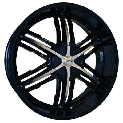 FORTE WHEELS  F55 BANSHEE BLACK RIM with MIRROR FACE