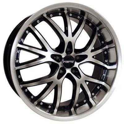FORTE WHEELS  F60 FURY SILVER RIM with MIRROR FACE