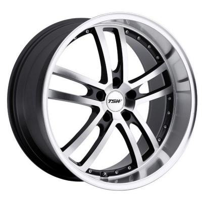 TSW WHEELS  CADWELL GUNMETAL RIM with MIRROR CUT FACE and LIP