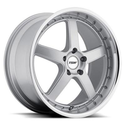 TSW WHEELS  CARTHAGE SILVER RIM with MIRROR CUT LIP and MILLED SPOKES