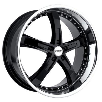 TSW WHEELS - OCT. SALE!  JARAMA GLOSS BLACK RIM with MIRROR CUT LIP