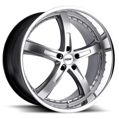 TSW WHEELS - OCT. SALE!  JARAMA HYPER SILVER RIM with MIRROR CUT LIP