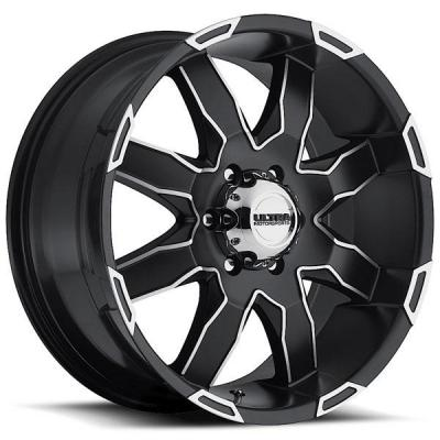 ULTRA WHEELS - EARLY BLACK FRIDAY SPECIALS!   PHANTOM 225 SATIN BLACK RIM with DIAMOND CUT ACCENTS