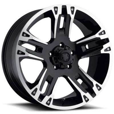 ULTRA WHEELS  MAVERICK 234/235 BLACK RIM with DIAMOND CUT ACCENTS