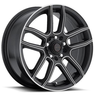 FOCAL WHEELS  F03 425 SATIN BLACK RIM with MACHINED ACCENTS
