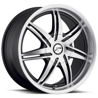 PLATINUM WHEELS  MANTIS 204 GLOSS BLACK RIM with DIAMOND CUT FACE
